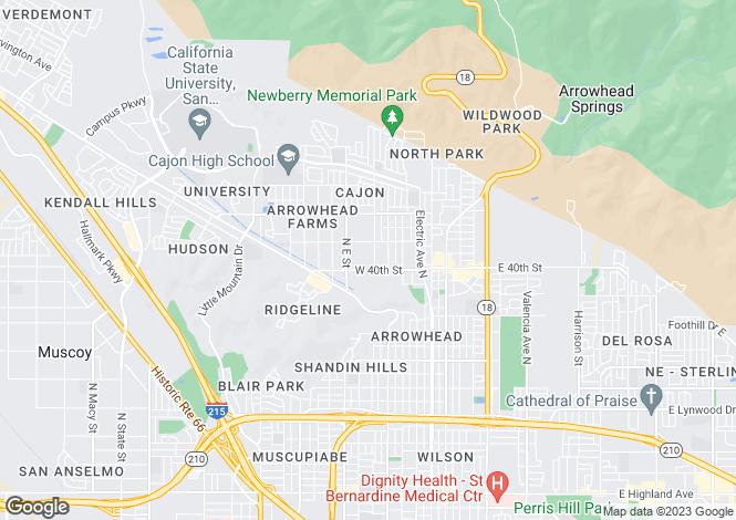 Map for California, San Bernardino County, San Bernardino