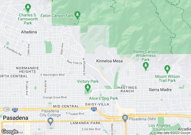 Map for USA - California, Los Angeles County, Pasadena