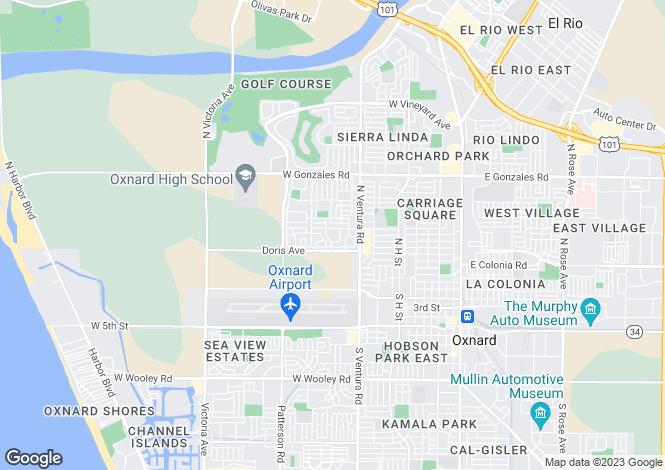 Map for USA - California, Ventura County, Oxnard