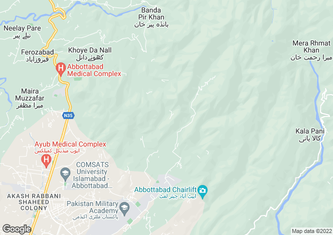 Map for Abbottabad, North West Frontier