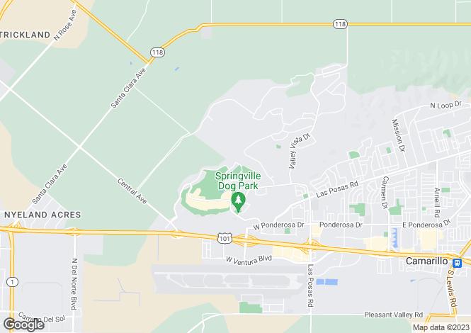 Map for USA - California, Ventura County, Camarillo