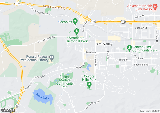 Map for USA - California, Ventura County, Simi Valley