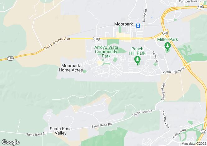 Map for USA - California, Ventura County, Moorpark