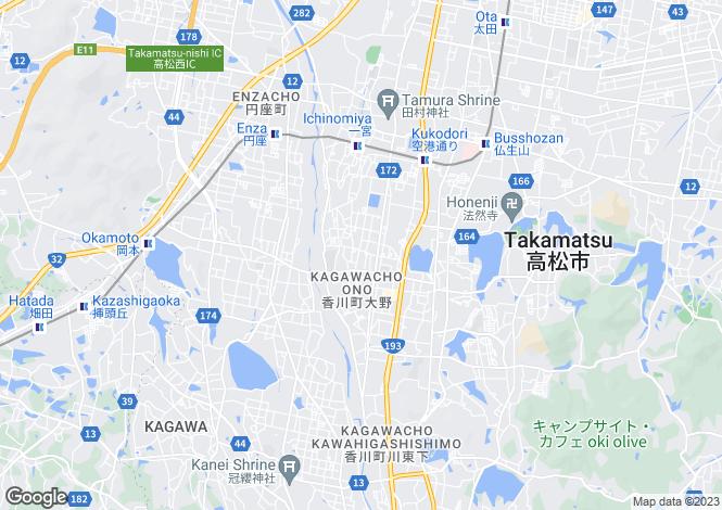 Map for Kagawa