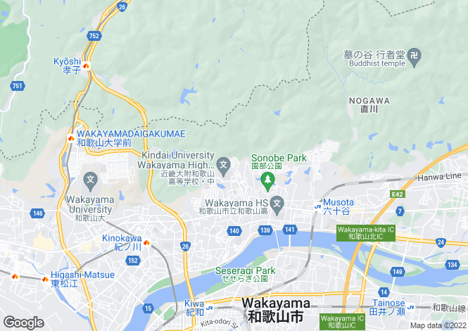 Map for Kyoto, Sonobe