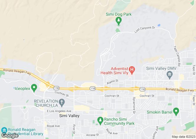 Map for USA - California, Ventura County, Simi Valley