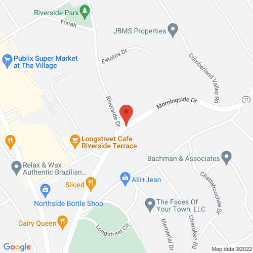 Map of Morningside Drive at Riverside Drive, Gainesville, 30501