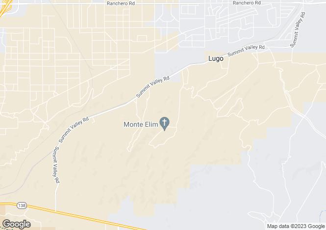 Map for California, San Bernardino County, Hesperia