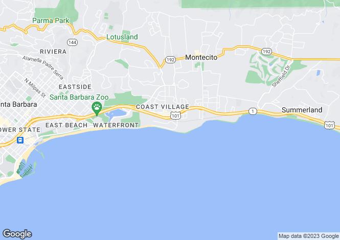 Map for USA - California, Santa Barbara County, Montecito
