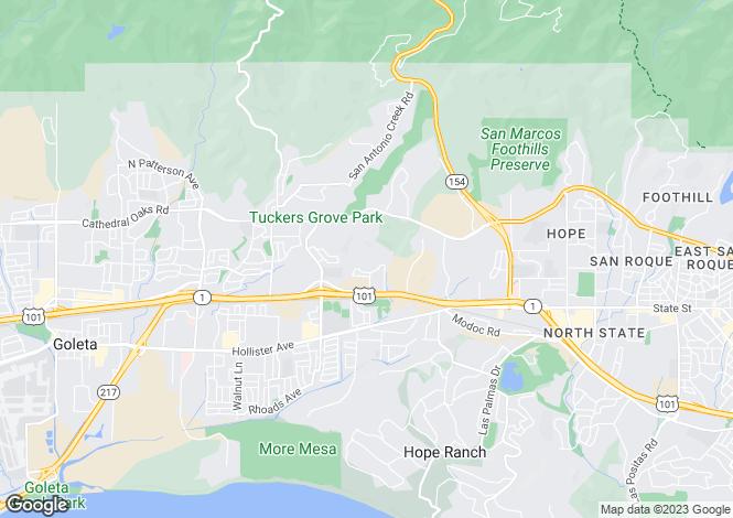 Map for USA - California, Santa Barbara County, Santa Barbara