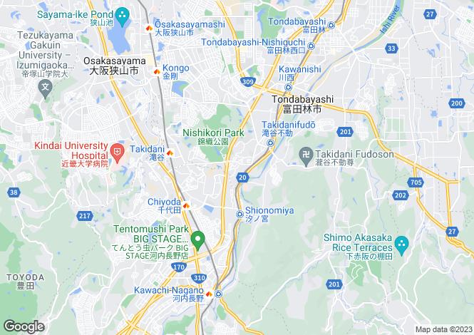 Map for Osaka