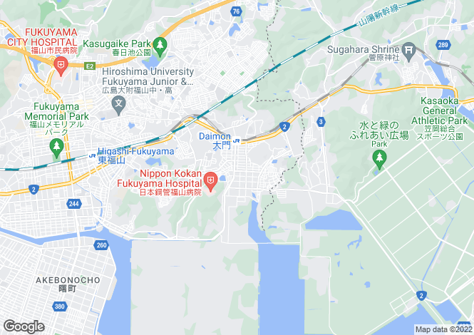 Map for Hiroshima