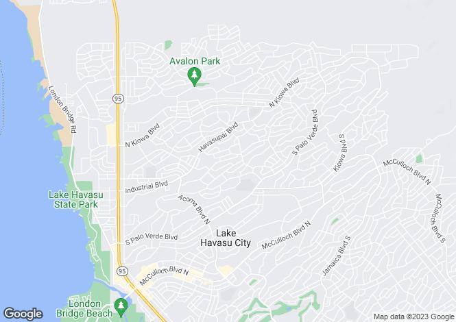 Map for USA - Arizona, Mohave County, Lake Havasu City