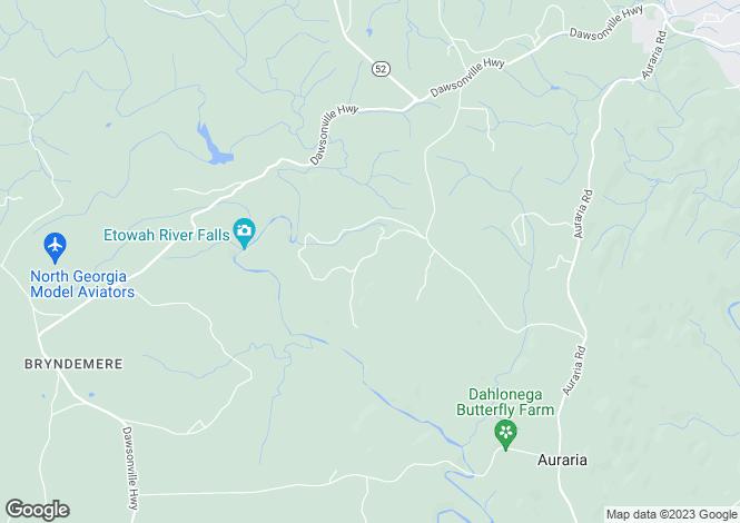 Map for USA - Georgia, Lumpkin County, Dahlonega
