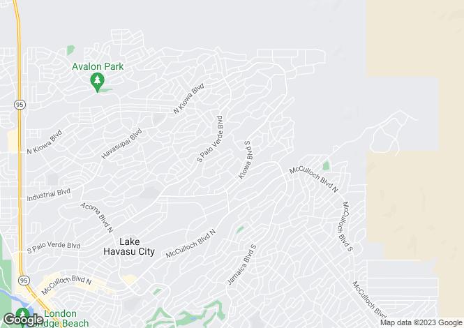 Map for Arizona, Mohave County, Lake Havasu City