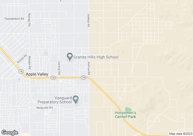 Map for California, San Bernardino County, Apple Valley