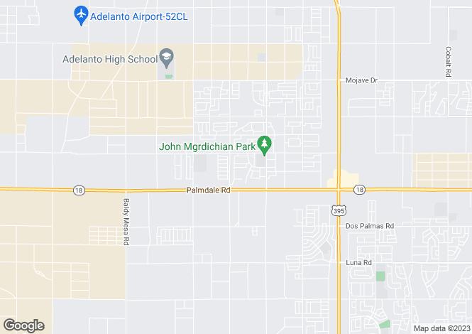 Map for California, San Bernardino County, Adelanto