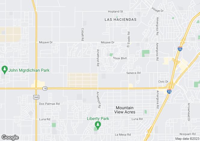 Map for USA - California, San Bernardino County, Victorville