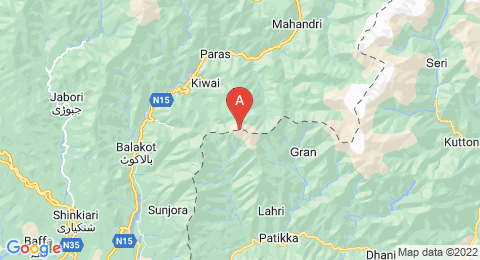 map of Makra Peak (Pakistan)