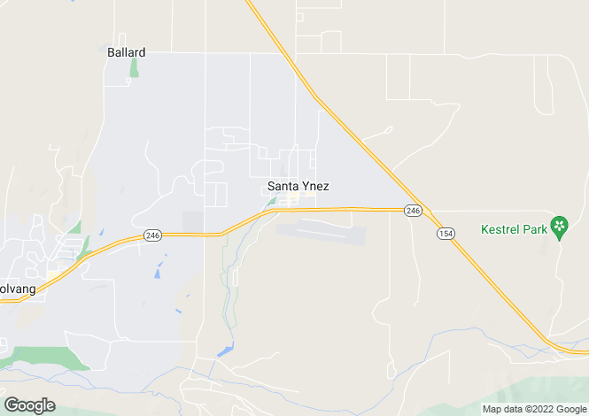Map for Santa Ynez, Santa Barbara County, California