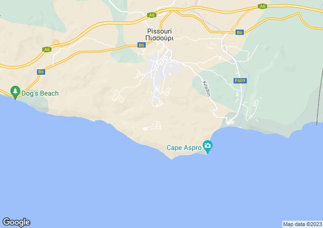 Map for Limassol, Pissouri