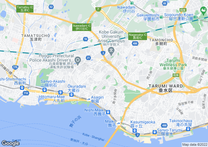Map for Hyogo