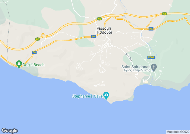 Map for Cyprus - Limassol, Pissouri
