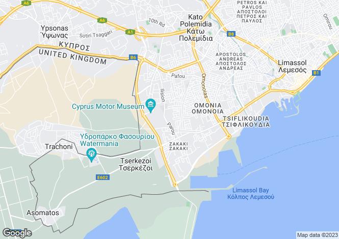 Map for Cyprus - Limassol, Zakaki