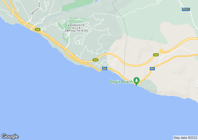 Map for Petra tou Romiou, Paphos