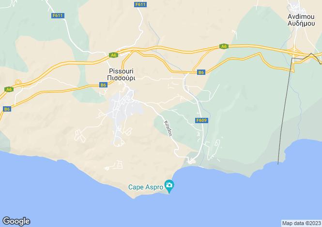 Map for Cyprus - Limassol, Pissouri