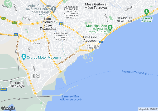 Map for Limassol Marina Area, Limassol, Cyprus