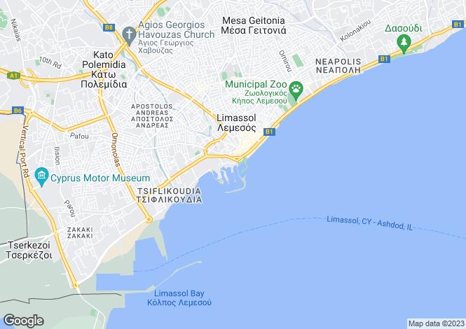 Map for Limassol, Limassol Marina