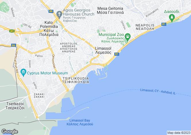 Map for Cyprus - Limassol, Limassol Marina