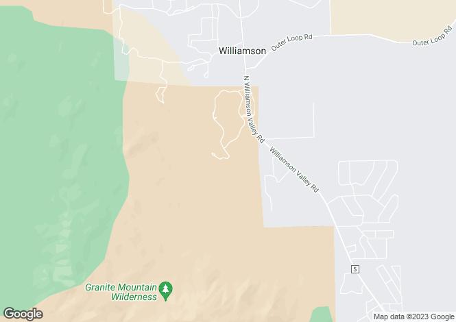 Map for Arizona, Yavapai County, Prescott