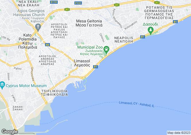 Map for Limassol Center, Limassol, Cyprus
