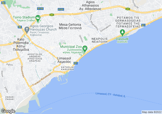 Map for Cyprus - Limassol
