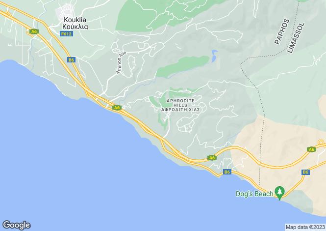 Map for Paphos, Aphrodite Hills