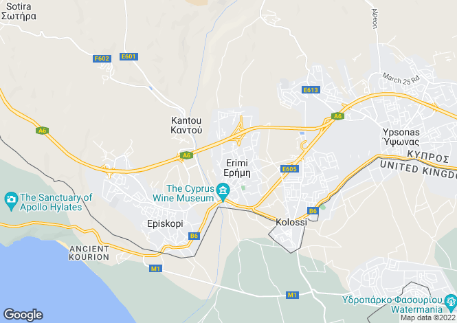 Map for Erimi, Limassol
