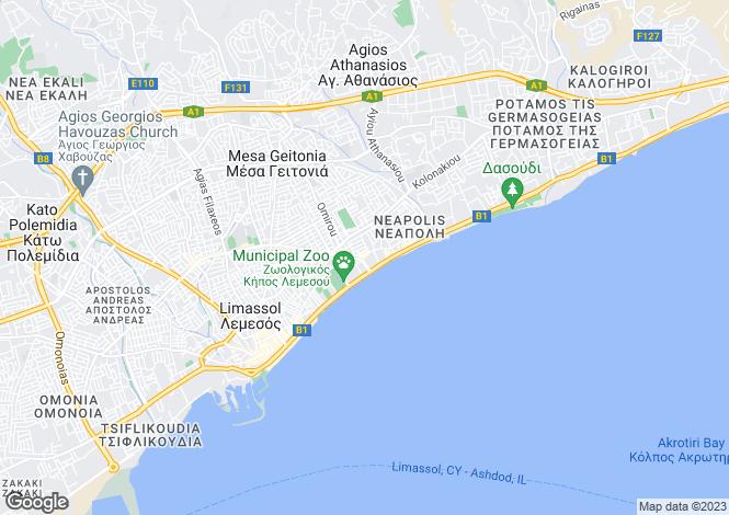 Map for Limassol, Neapolis
