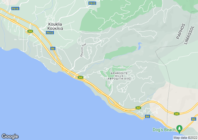 Map for Aphrodite Hills, Paphos