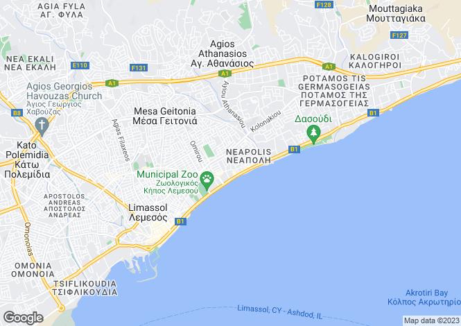 Map for Cyprus - Limassol, Neapolis