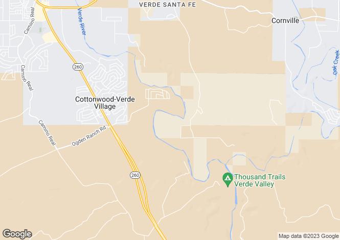 Map for Arizona, Yavapai County, Cornville