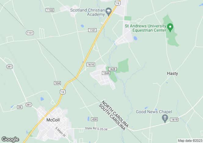 Map for USA - North Carolina, Scotland County, Laurinburg