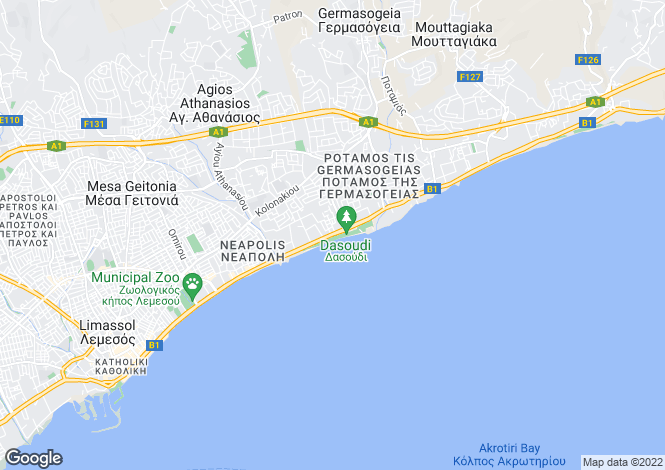Map for Germasogeia, Limassol