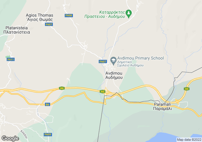 Map for Limassol, Avdimou