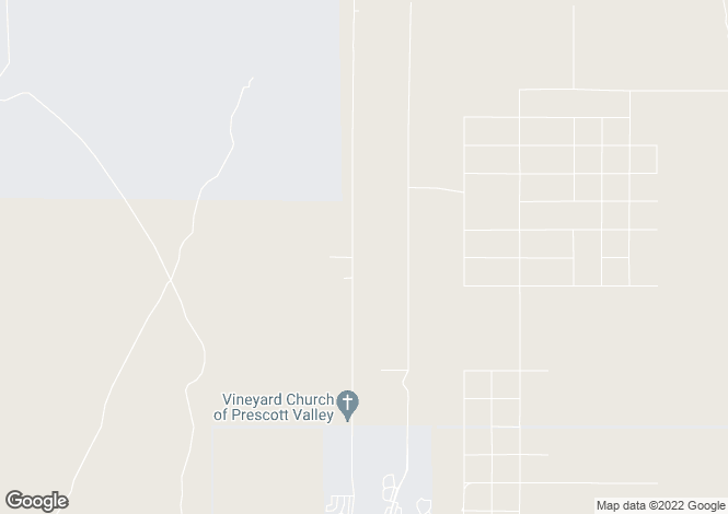 Map for Arizona, Yavapai County, Prescott Valley