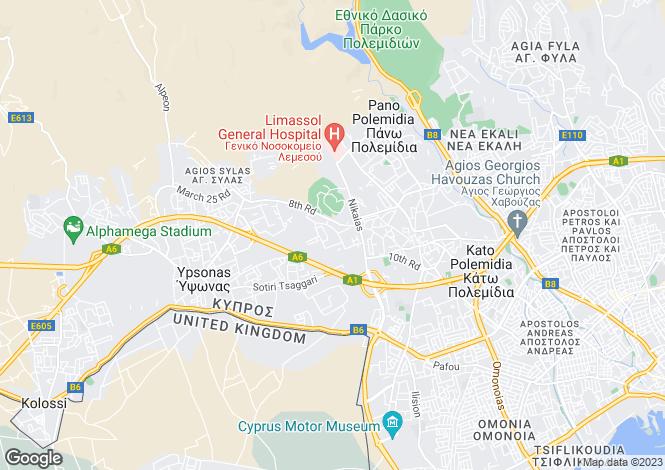 Map for Limassol, Kato Polemidia