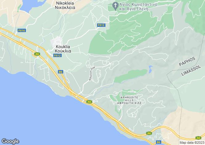 Map for Paphos, Kouklia