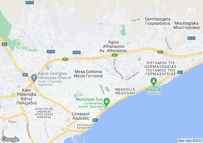 Map for Limassol, Mesa Gitonia