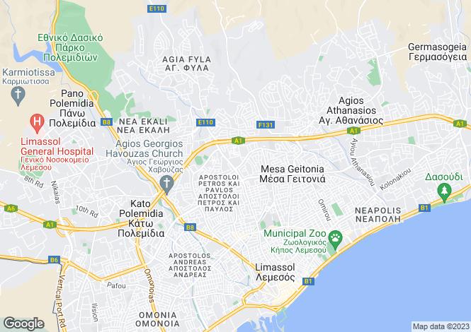 Map for Limassol, Limassol